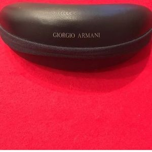 Giorgio Armani Black Glasses Soft Zipper Case
